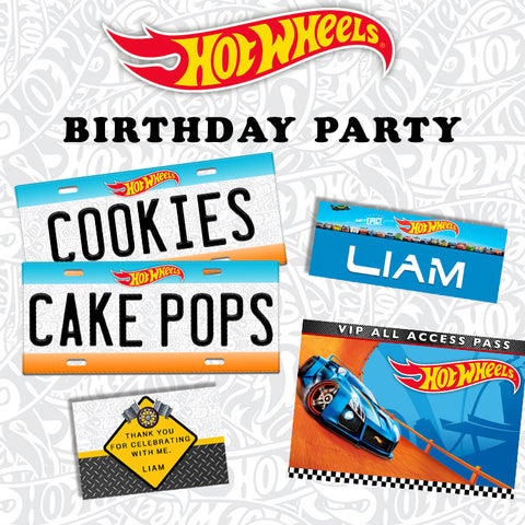 photograph relating to Hot Wheels Printable titled Sizzling WHEELS BIRTHDAY Celebration Kidstationph