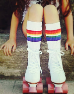 Rainbow socks in White