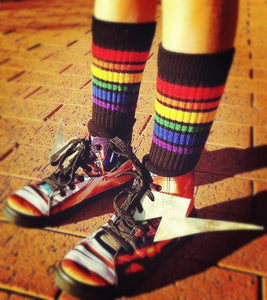 Rainbow socks in Black