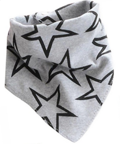 Large grey bandana bib