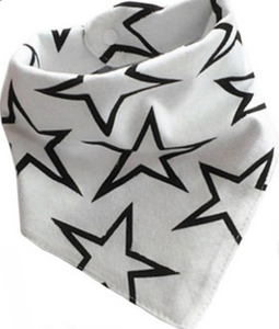 Large white bandana bib