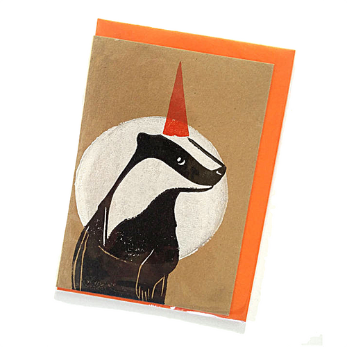 Party Badger Blank Card