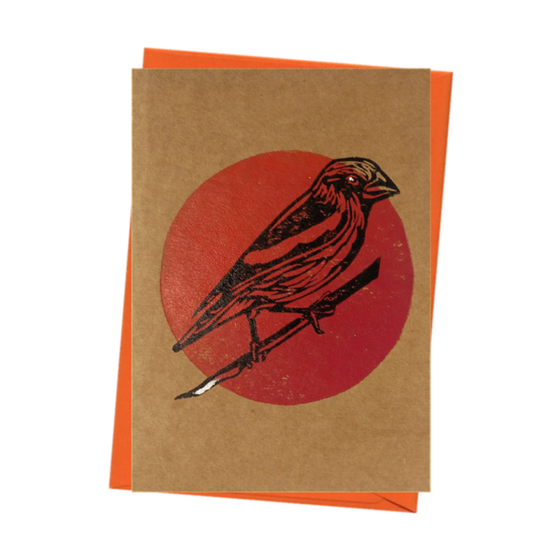 Bird Watch Hawfinch Nature Blank Card