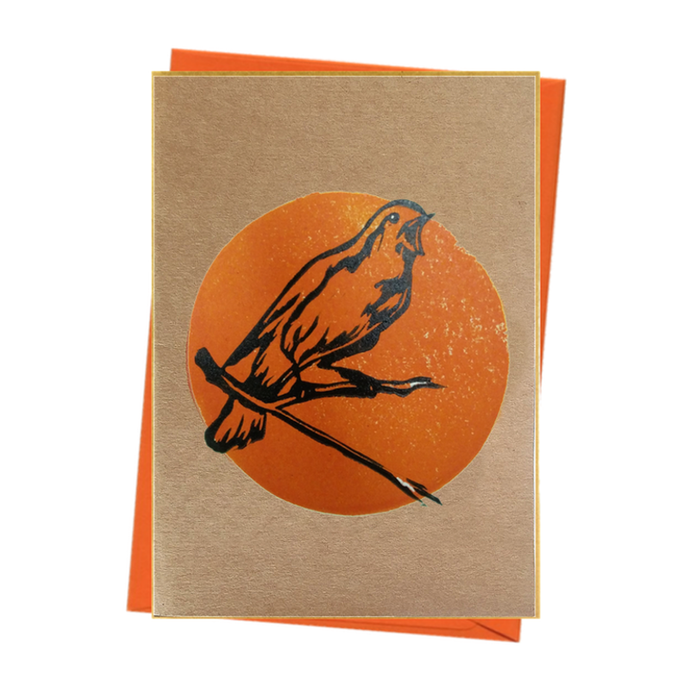 Bird Watch Nightingale Nature Blank Card