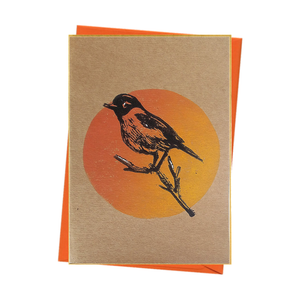 Bird Watch Stonechat Nature Blank Card