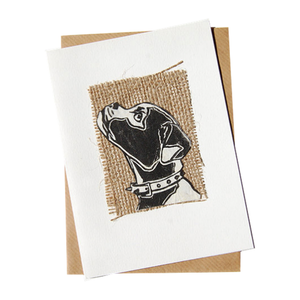 Beautiful British Bulldog Hessian Blank Card