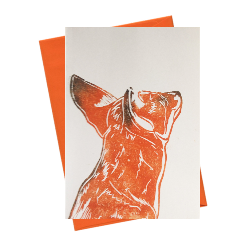 Little Shy Fox Blank Card