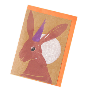 Party Hare Blank Card