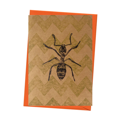 Insect Little Ant Bug Entomology Natural History Blank Card