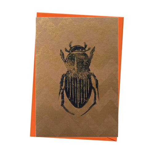 Insect Dung Beetle Bug Entomology Natural History Blank Card