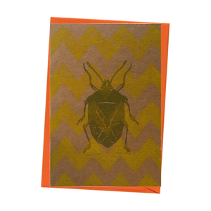 Insect Shield Bug Beetle Entomology Natural History Blank Card