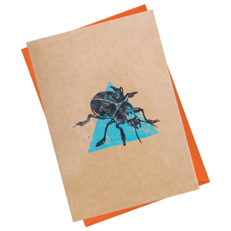 King Rollo Beetle Blank Card