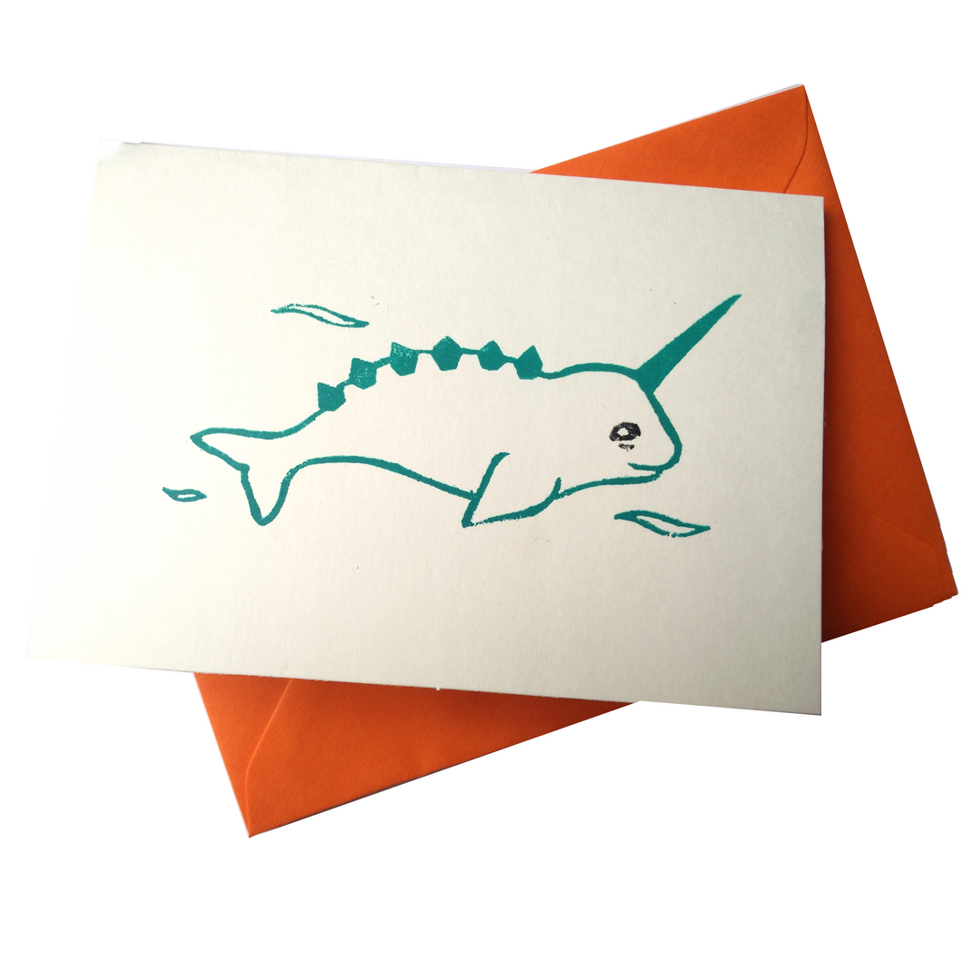 Magical Narwhal Underwater Blank Card (Charity)
