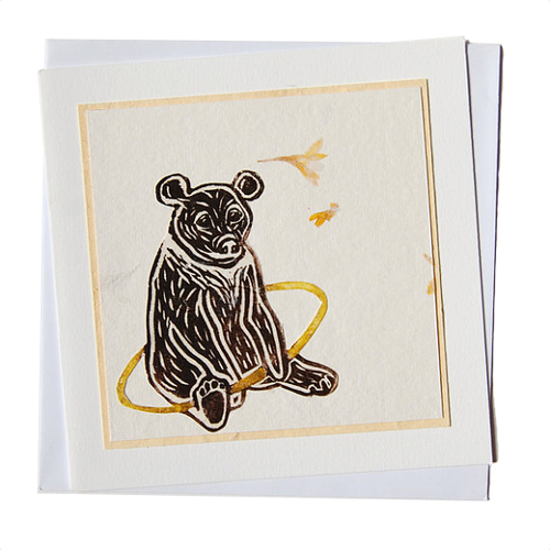 Moon Bear with Hula Hoop Blank Card (Charity)