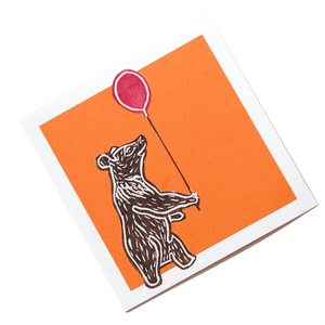 Moon Bear with Balloon Blank Card (Charity)