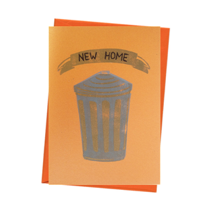 'New Home' Trashy Blank New House Card - Gold