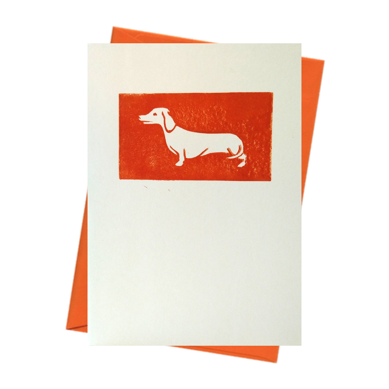 Tiny Sausage Dog Smart Blank Card