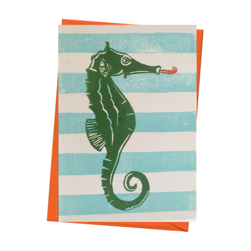 Party Seahorse Underwater Blank Birthday Card
