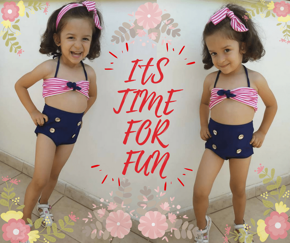 Girls Kids  Beachwear Swimsuit - TonyToyss.com