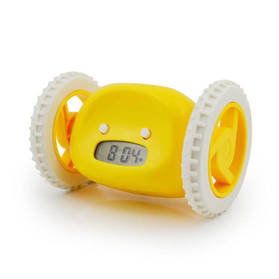 Running On Wheels Digital LCD Alarm Clock - TonyToyss.com
