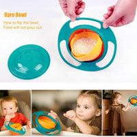 New Non Spill Universal Rotate Food Snacks Baby Bowl - TonyToyss.com
