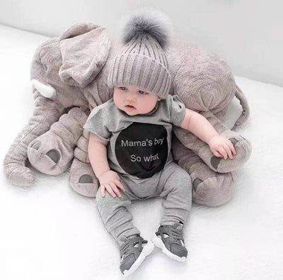 Large Baby Elephant Pillow 65cm - TonyToyss.com