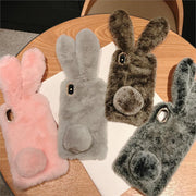 Cute Fluffy Bunny Case For iPhone