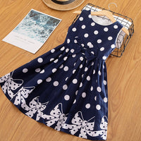 3-12 Years Baby Girls Polka-Dot Summer Dress