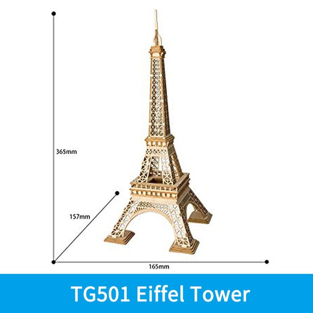 3D DIY WOODEN PUZZLE Eiffel Tower