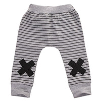 Warm Cotton Striped Monster Cross Sport Bottom Pants - TonyToyss.com