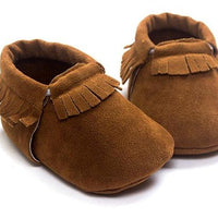Leather Baby Moccasins Soft  Shoes  Non-slip - TonyToyss.com