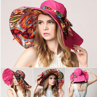 Oversized Summer Sun Hat with UV Protection - TonyToyss.com