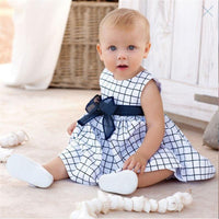Baby Girl Newborn Blue And White Dress - TonyToyss.com