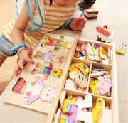 Children's Early Education Wooden Puzzle Dressing game Toys - TonyToyss.com