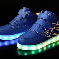 Kids Lights Shoes With Wings LED Sneakers - TonyToyss.com