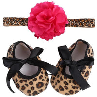 New Born Girls Baby Shoes + Headband 22 Designs - TonyToyss.com