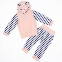 Baby Girls Hoodie Tops T-shirt+Pants - TonyToyss.com