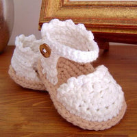 Handmade Crochet Baby Girls Sandals  0-12 month 14 Great Designs - TonyToyss.com