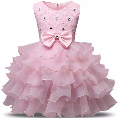 Special Occasion Flower Baby Girl Dresses 0-8 Years 9 Colors - TonyToyss.com