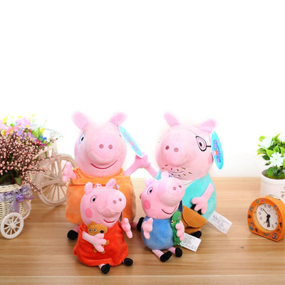 Peppa George Pig Family Party Dolls 4Pcs/set 19/30cm - TonyToyss.com