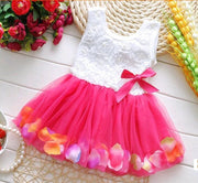 Summer Baby Girls Flower Rose Petal  Dress - TonyToyss.com