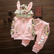 Cute Baby Girl Bunny Ears Suits for Kid 1-4 Years - TonyToyss.com