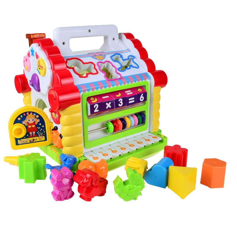 Fun House Musical Electronic Geometric Blocks Sorting Learning  Educational Toys - TonyToyss.com
