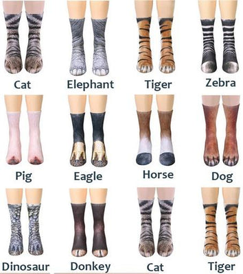 Funny Animal Paw Socks - TonyToyss.com