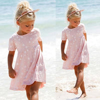 Girls Summer Beach Dress Short Sleeve - TonyToyss.com