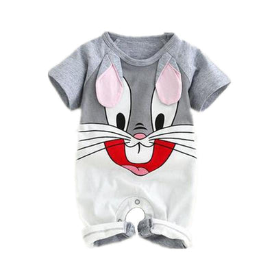 Cotton Baby Rompers Short-Sleeve Cute Jumpsuit-Monkey,Penguin and Rabbit - TonyToyss.com