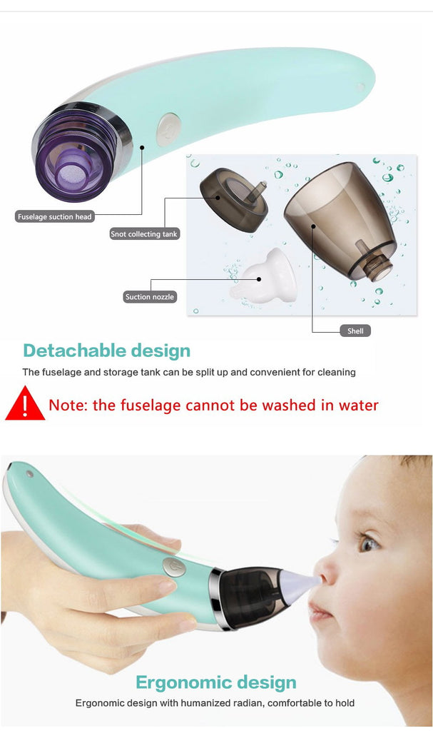 Electric Automatic Baby Nasal Aspirator Portable Nose Cleaner Tonytoys