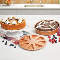 3pcs/Set 24cm-9'' Cake Mold Copper Pan-Perfect Baking Cake - TonyToyss.com