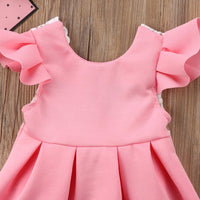 Baby Girls Backless Lace Bow Princess Dresses-Tutu Party Wedding Birthday Dress - TonyToyss.com