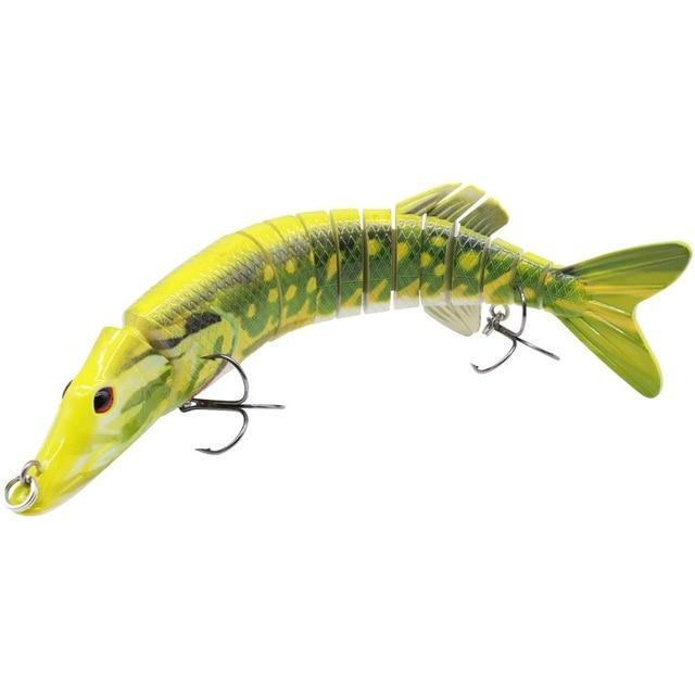 Multi Jointed Pike Fishing Lure - TonyToyss.com
